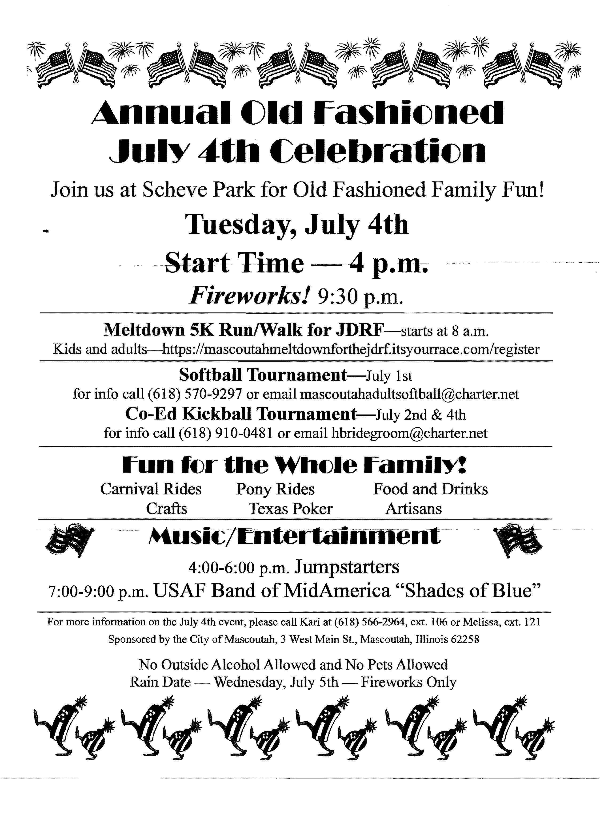 Old Fashioned July 4th Celebration